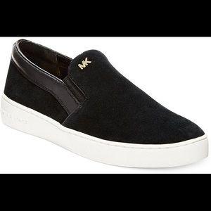Michael Kors Keaton Slip On Sneakers suede black